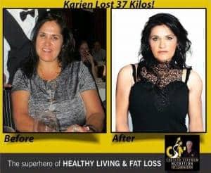 Karien lost 37 kg