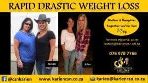 mother and daughter lose weight