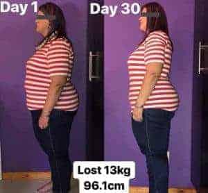 30 days losing 13kg