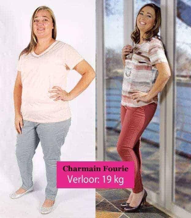 charmain fourie verloor 19kg