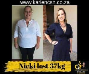 nicci lost 37kg
