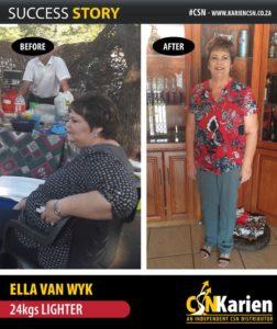 ella van wyk 24kg lighter