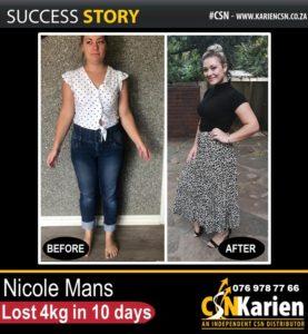 Nicole Mans 𝐥𝐨𝐬𝐭 4𝐤𝐠 in 10 days 𝐰𝐢𝐭𝐡 𝐂𝐒𝐍!
