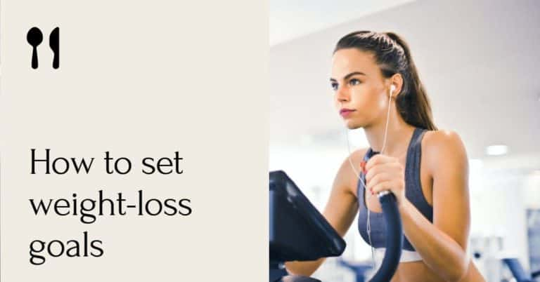how to set weight loss goals