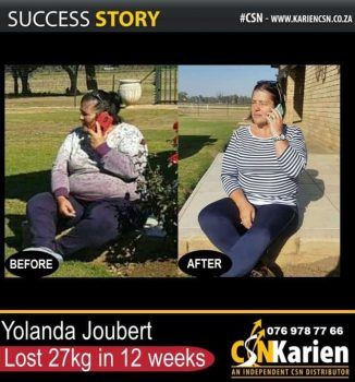 Yolanda lost 27kg in 3 months on the CSN program