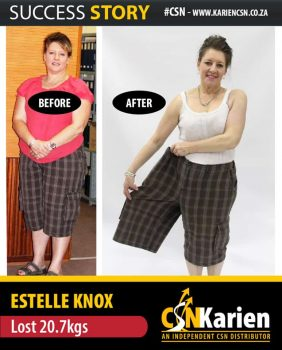 estellle knox lost 20.7kg