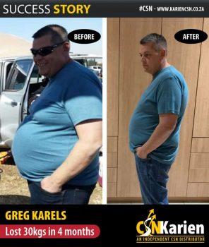 greg karels lost 30kgs